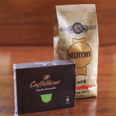 CAJA CAFFETTINO X 4 CAPSULAS DOLCE + 250 GR DE CAFÉ TOSTADO
