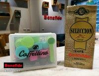 CAJA CAFFETTINO NESPRESSO  X 12 CAPSULAS + 250 GR DE CAFÉ TOSTADO marca Bonafide