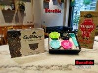 CAJA CAFFETTINO X 4 CAPSULAS DOLCE + 250 GR DE CAFÉ TOSTADO marca Bonafide