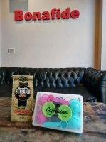 CAJA CAFFETTINO X 8 CAPSULAS DOLCE + 250 GR DE CAFÉ TOSTADO marca Bonafide